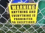 Everything prohibited