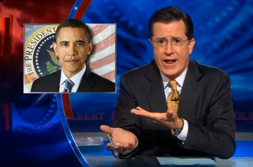 Click to view Colbert's satirical take on big government's intrusion in citizens' lives.